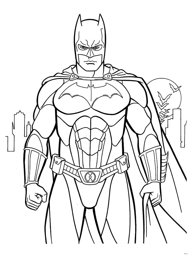 Batman Coloring Page - Dr. Odd