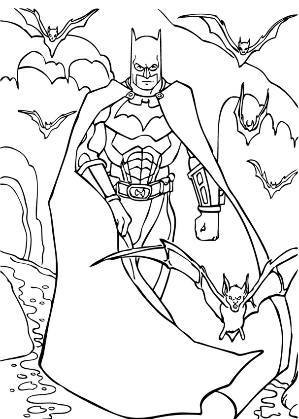Batman Coloring Page Dr Odd