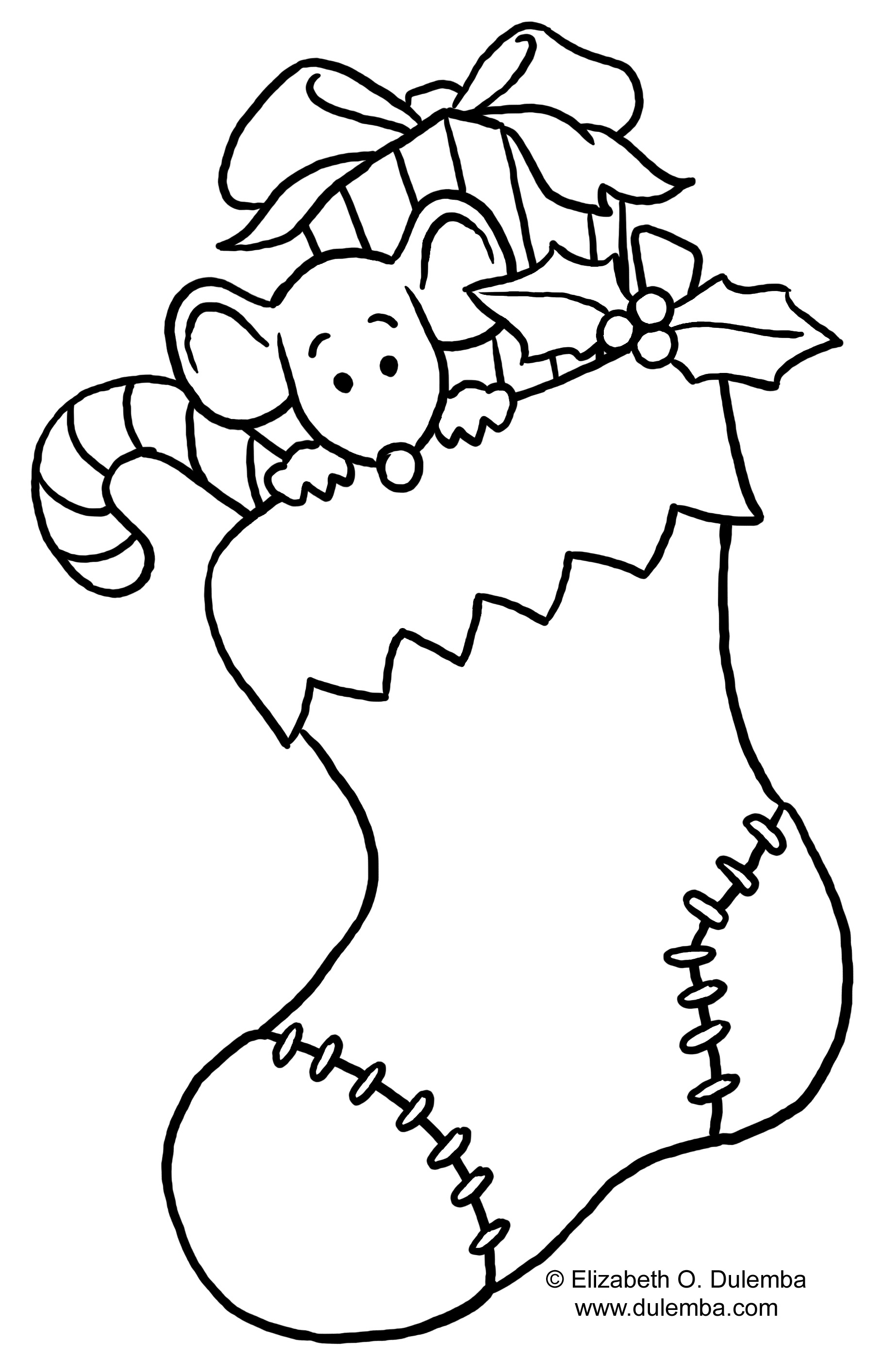 Black And White Christmas Tree Coloring Page