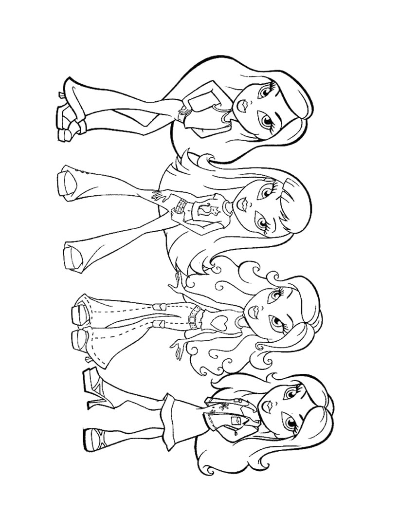 Coloring pages girl