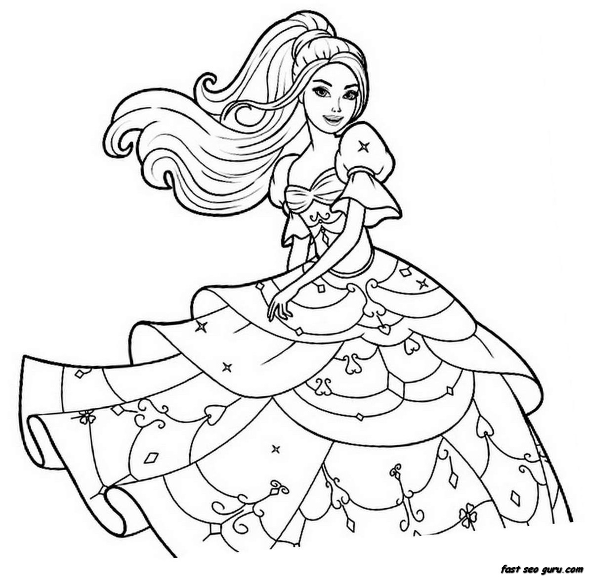 Coloring pages to print for girls - Coloring Pages For Girls