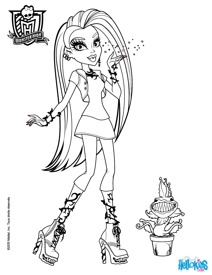 Coloring pages for girls dr odd for Monster high color pages free