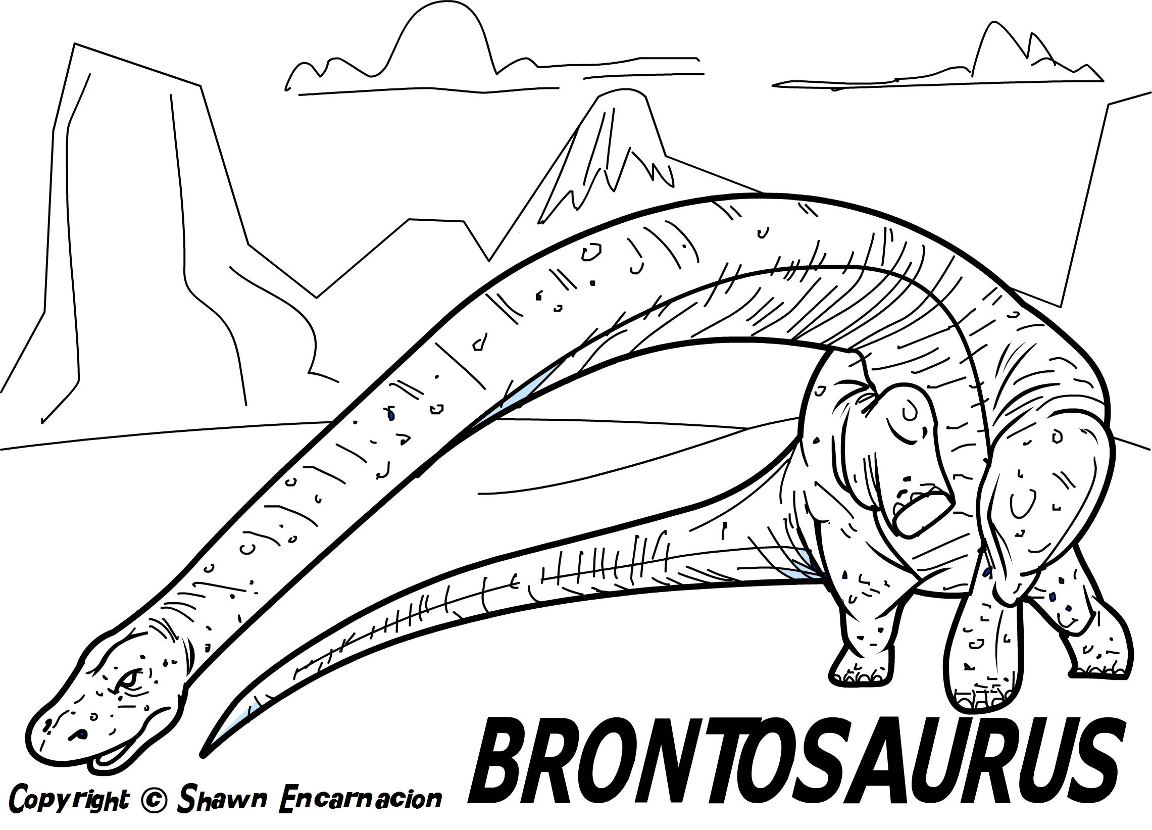 Printable coloring pages dinosaurs - Printable Coloring Pages Dinosaurs 12