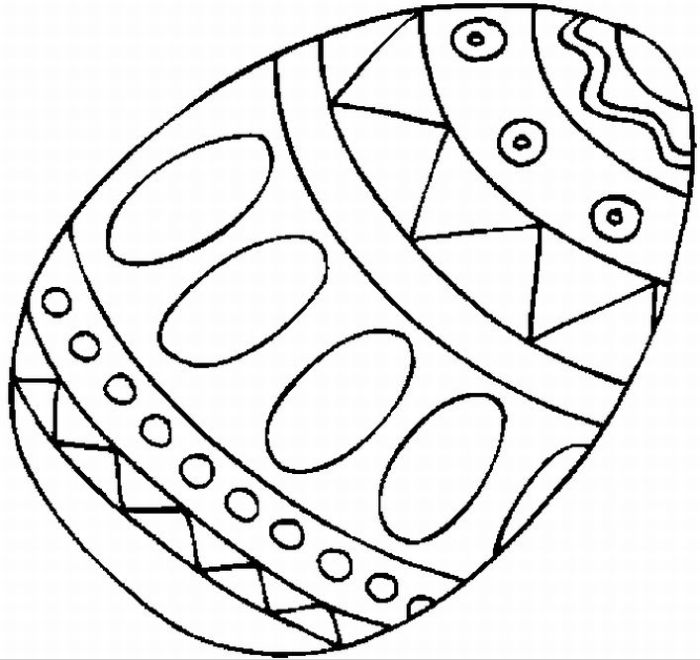 Easter Coloring In Sheets : Easter egg coloring pages dr odd