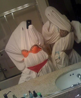 And if all else fails, just go as the timeless Halloween classic: sexy sheet ghost.