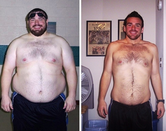 Buddy up with a thinner doppelganger and go as a before-and-after weight loss ad.