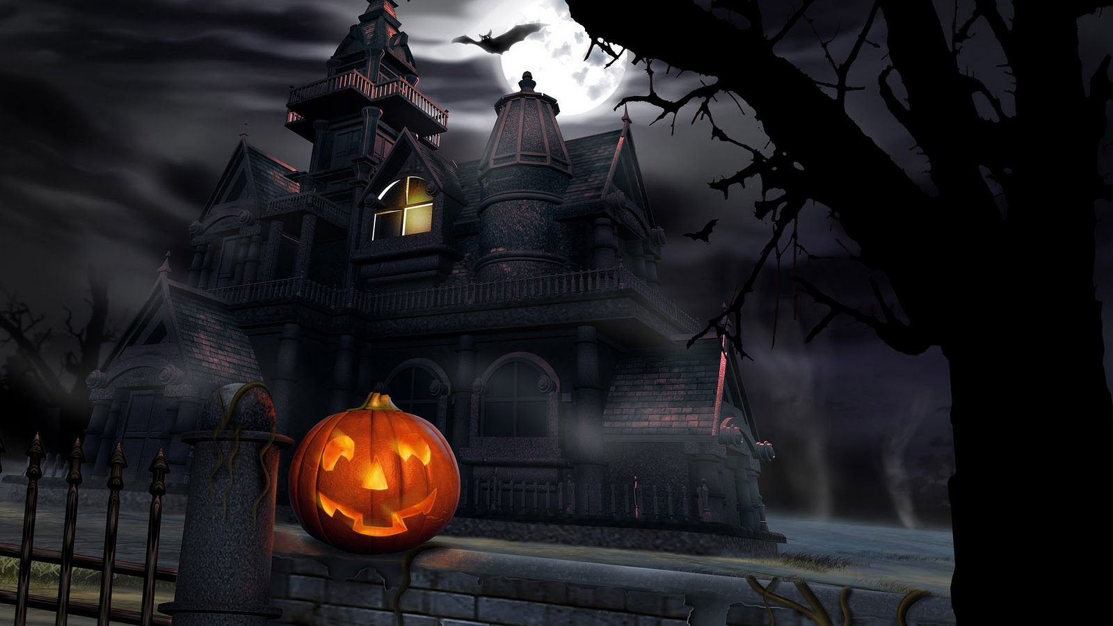 ATTRACTIVE HALLOWEEN PUMPKIN NEON BEAUTIFUL 3D HD QUALITY DESKTOP ...
