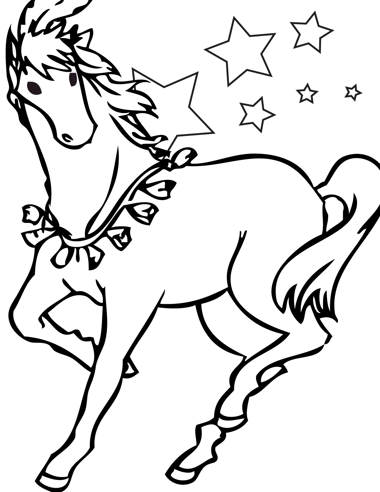 coloring book pages of horses-#30