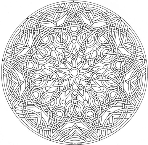 Nativity coloring pages 2018 dr odd - Mandala beau et difficile ...