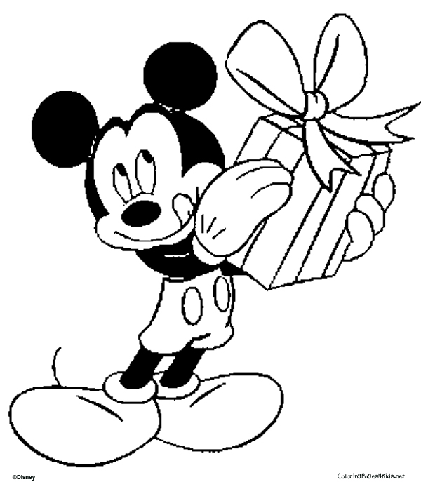 Coloring Pages Mickey Mouse Christmas : Mickey mouse coloring pages dr odd