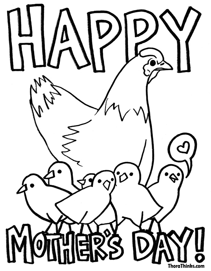 Mothers Day Coloring Pages 2017- Dr. Odd