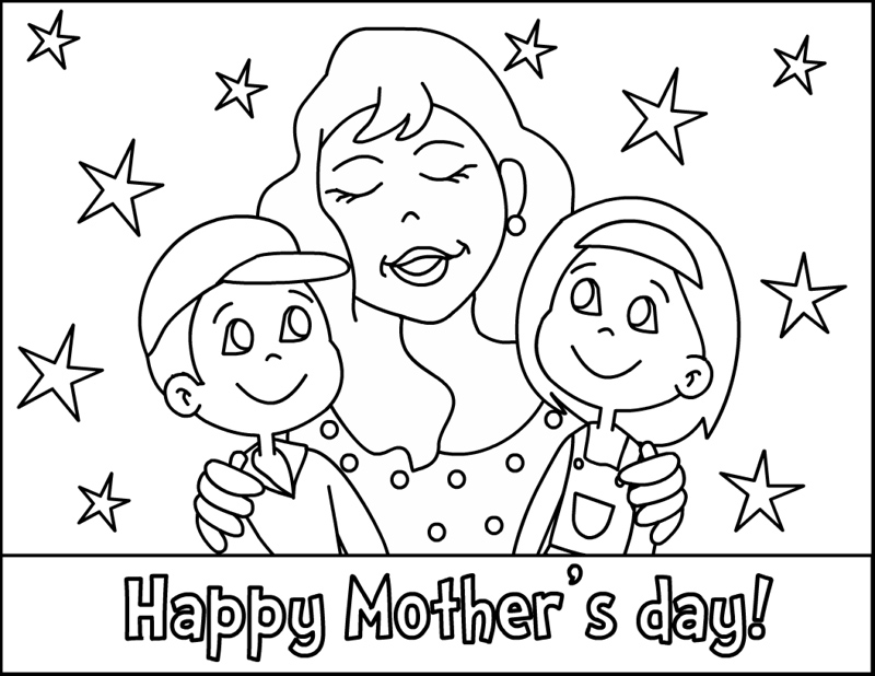 Mothers Day Coloring Pages 2018