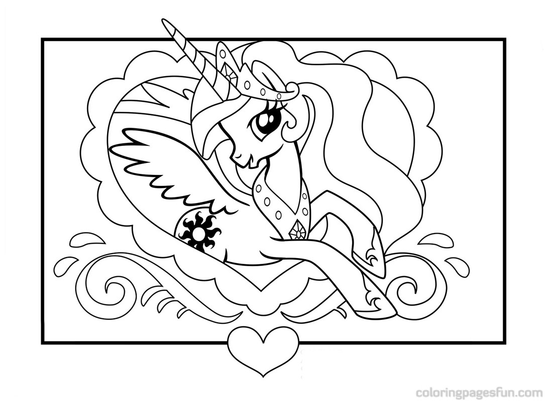 My Little Pony Coloring Page - Dr. Odd