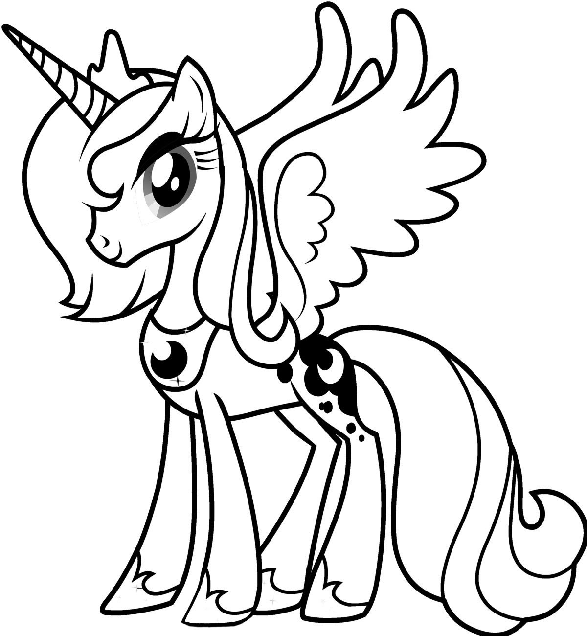 Little Pony Coloring Pages Odd