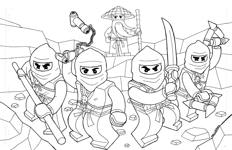 ninjago coloring pages 2019