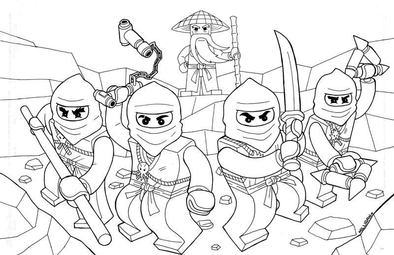 Free Coloring Pages Of Mandala Ninjago Coloring Pages Ninjago
