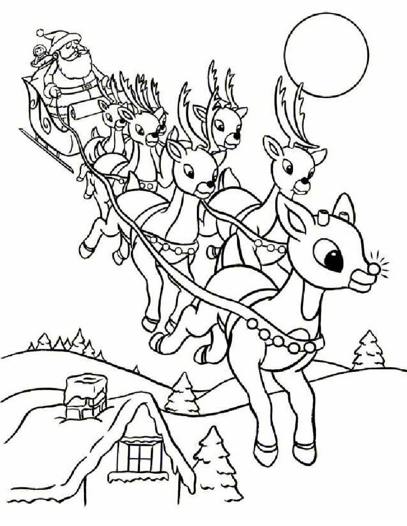 Santa Coloring Pages - 2018