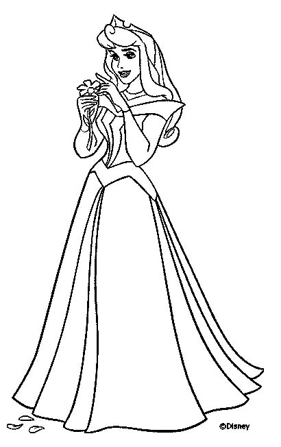 sleeping beauty coloring pages - photo#33
