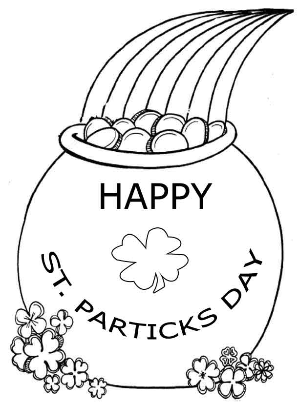 St. Patricks Day Coloring Pages - Dr. Odd