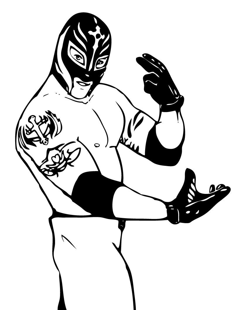 coloring pages wwe - photo#27