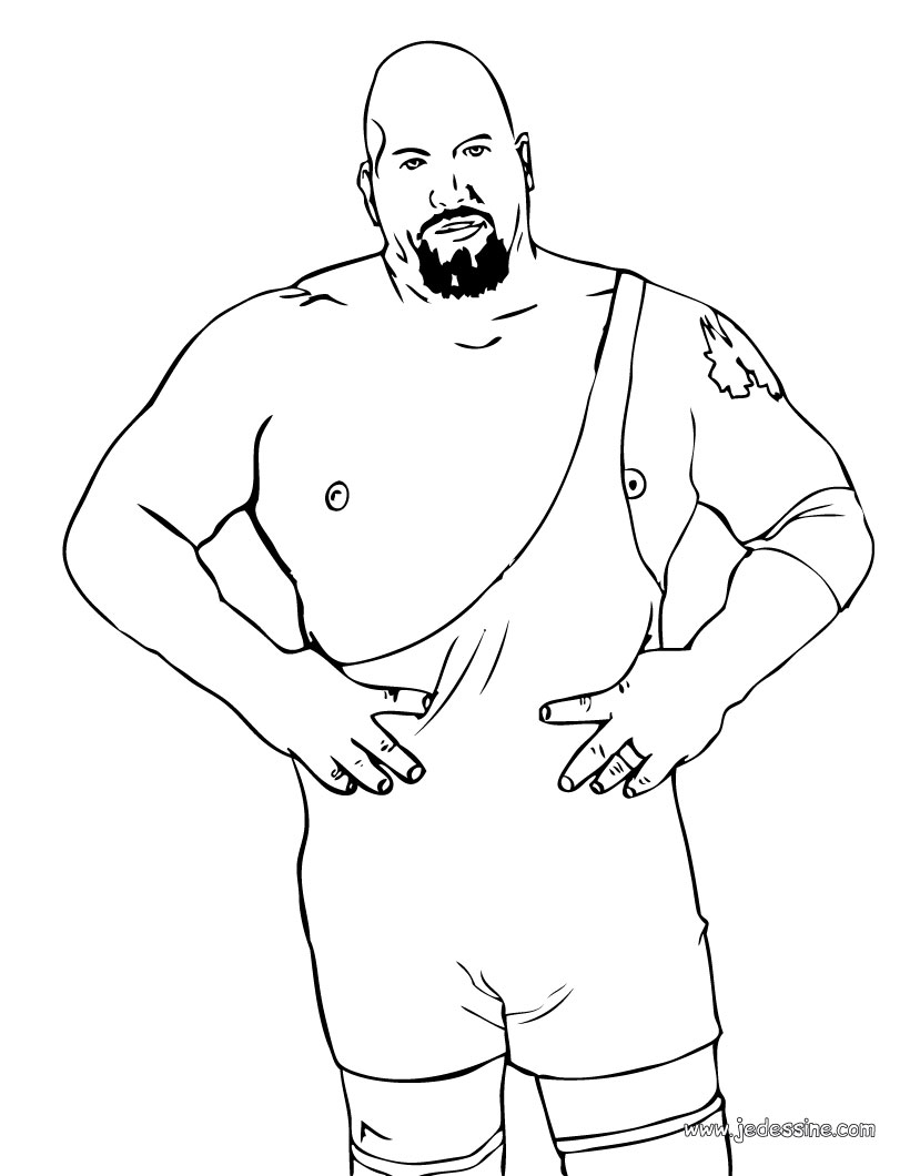 wrestlers coloring pages - photo#22