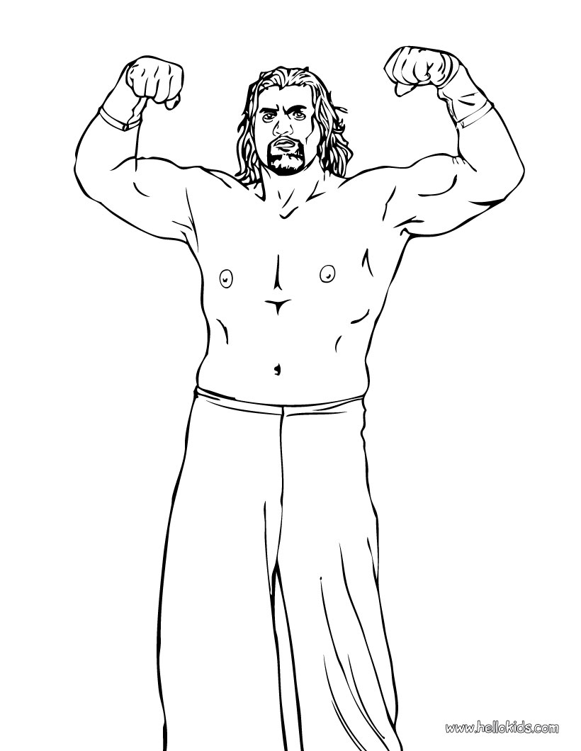 It is a photo of Shocking Wwe Printable Coloring Pages