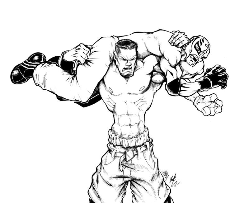 Wwe Coloring Pages Odd