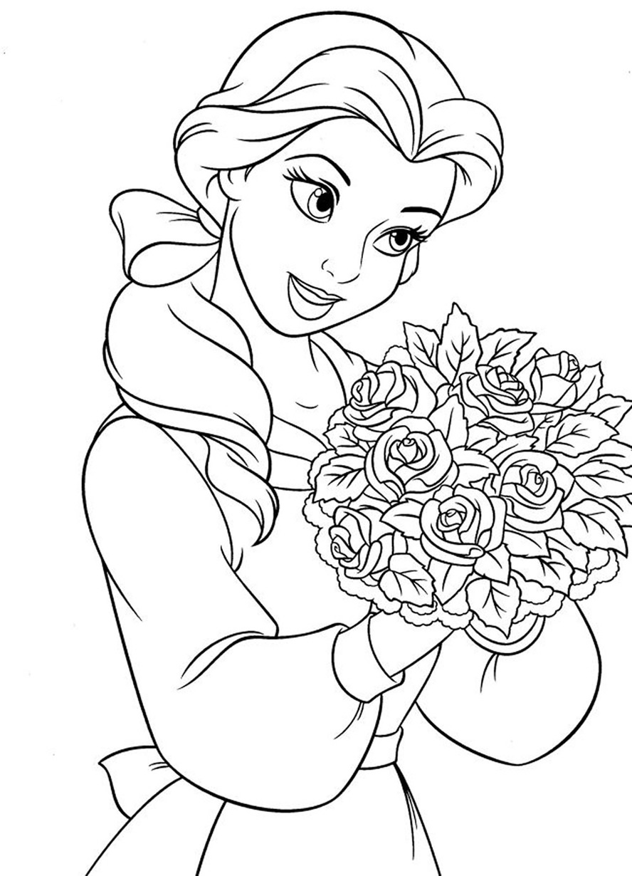 Coloring Pages Disney Princess Belle : Belle coloring pages dr odd