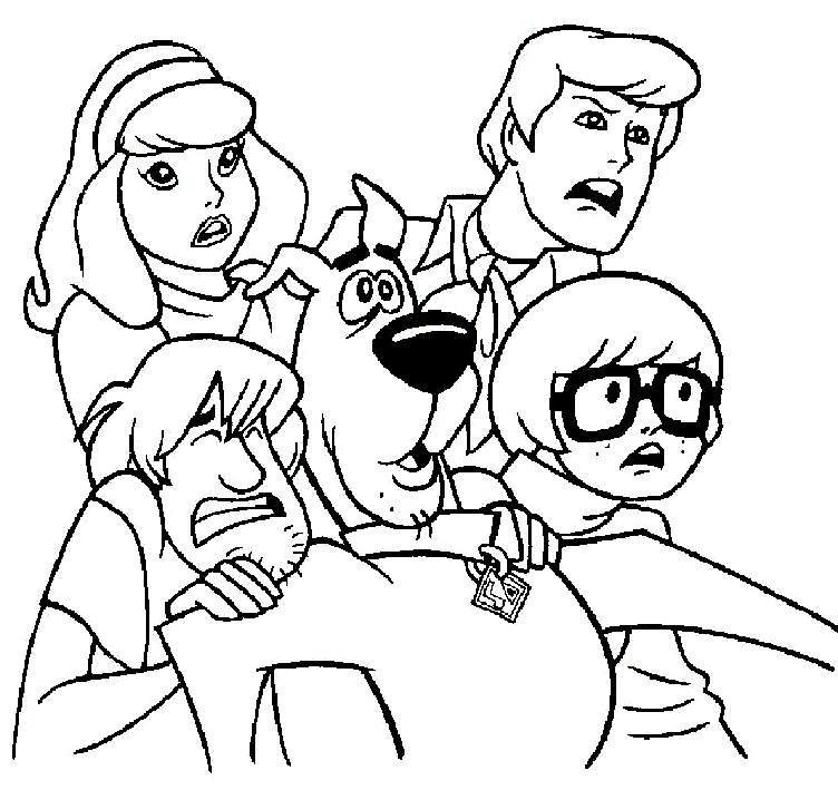 Scooby Coloring Pages For Christmas
