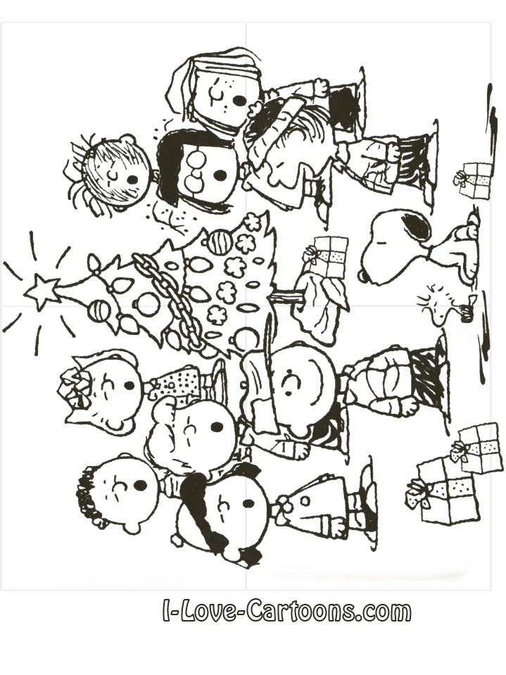 Charlie brown christmas tree coloring page cfapreparationinfo