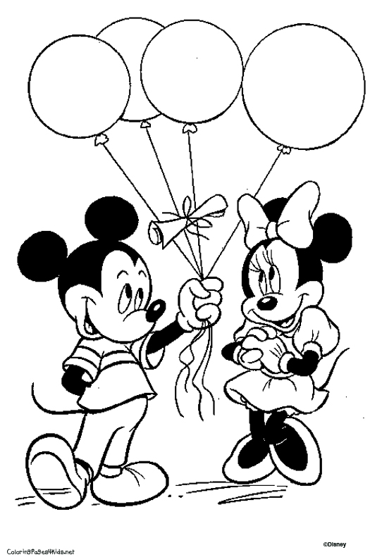 Mickey Mouse Coloring Pages Disney Mickey As Santa Coloring Page