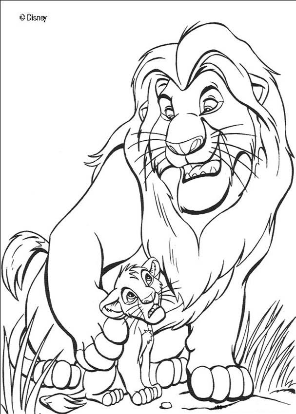 Lion King Coloring Pages 2015- Dr. Odd