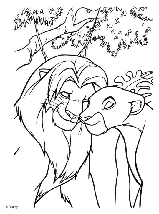 Colouring In Sheets Lion King : Lion king coloring pages dr odd