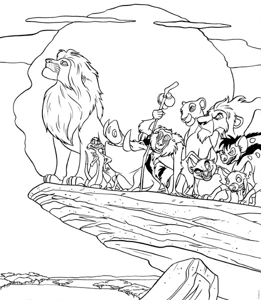 lion king coloring pages - photo#27
