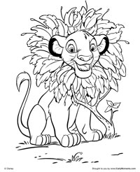 Lion King Coloring Pages 2018 Dr Odd