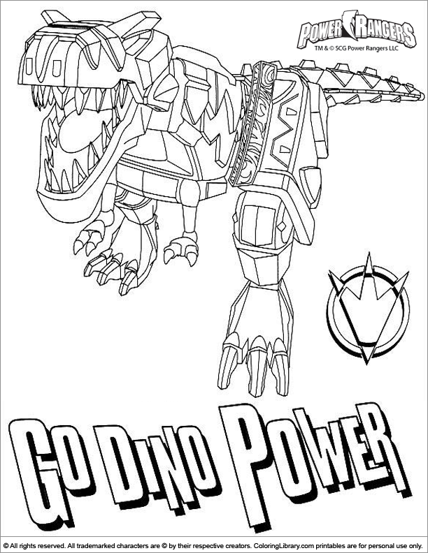 printable power rangers coloring pages coloring pages - Power Rangers Dino Coloring Pages