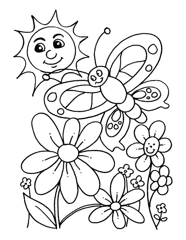 printable coloring pages for sping - photo#1