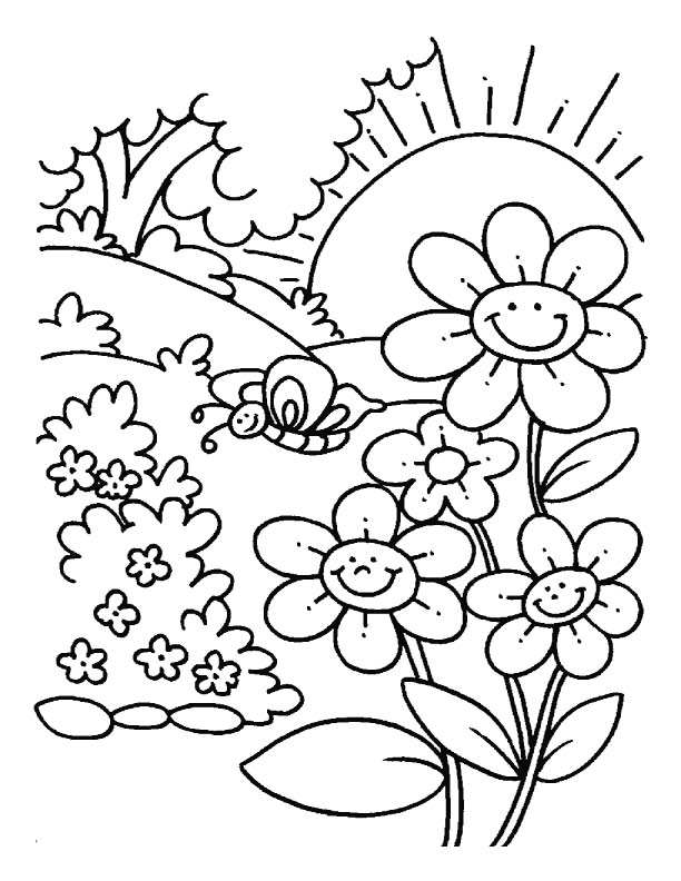 Spring Coloring Pages Odd