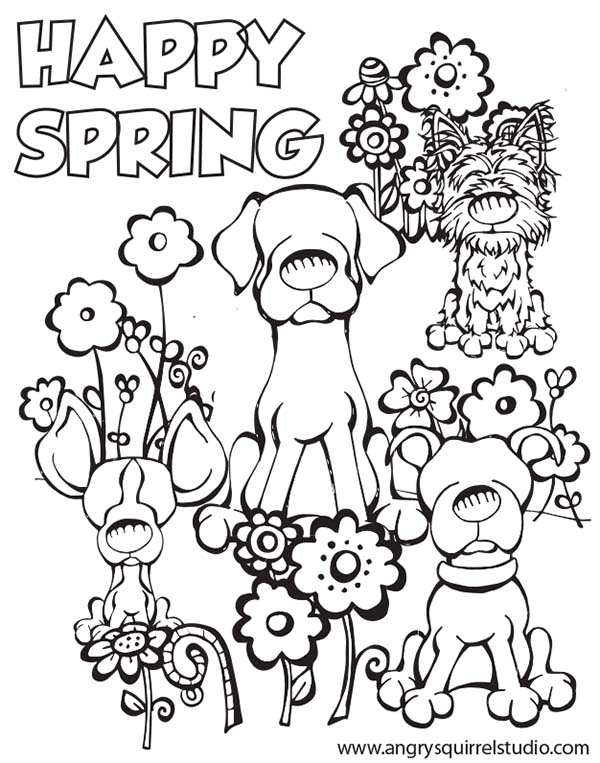 kindergarten coloring sheets for spring coloring - Spring Color Pages