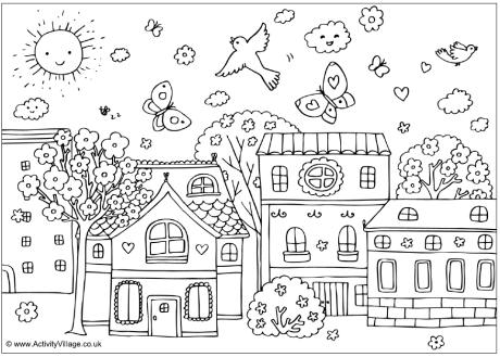 Spring Coloring Pages 2019 Best