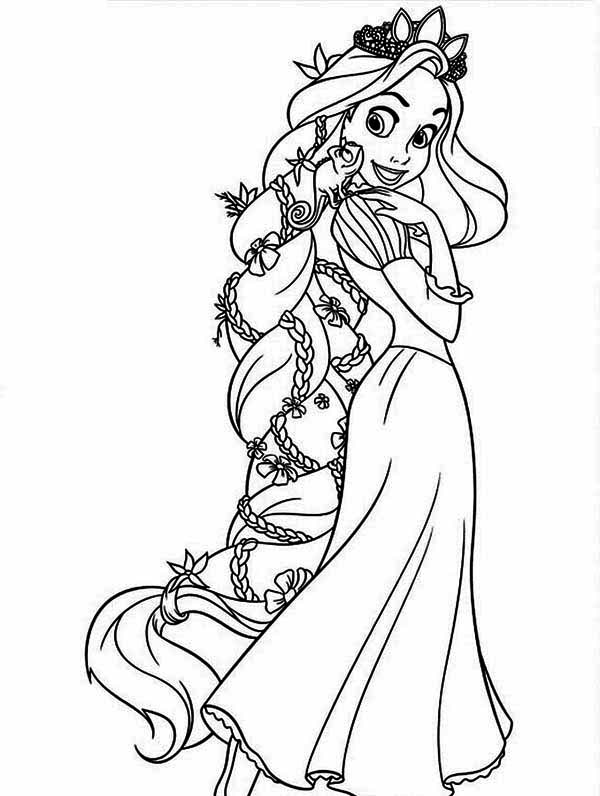 Tangled Coloring Pages 2018- Dr. Odd