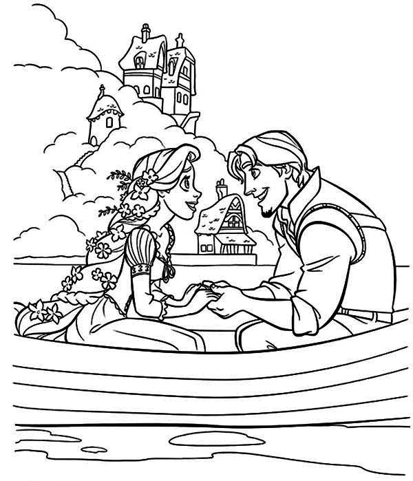 170 FREE Tangled Coloring Pages (July 2020) Rapunzel Coloring Pages | 699x600