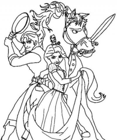 my daughter loves these tangled coloring pages one time she made her own tangled coloring page