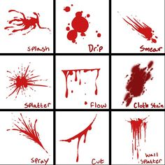 how to draw dripping blood