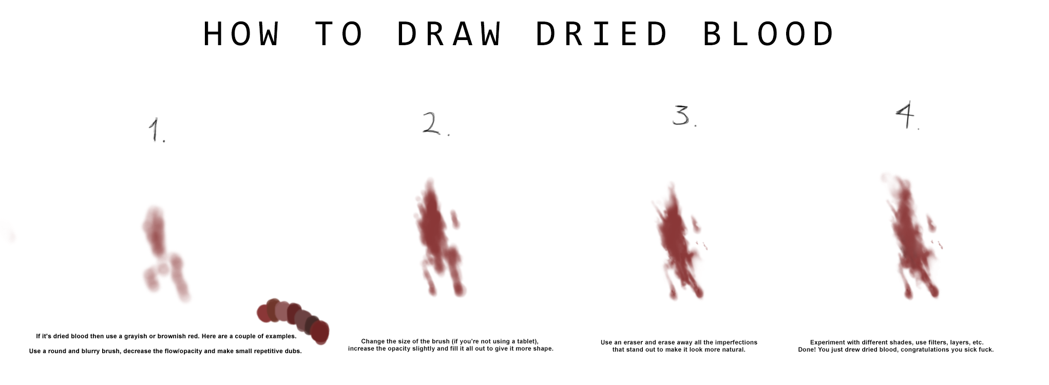 how to draw blood best cool funny