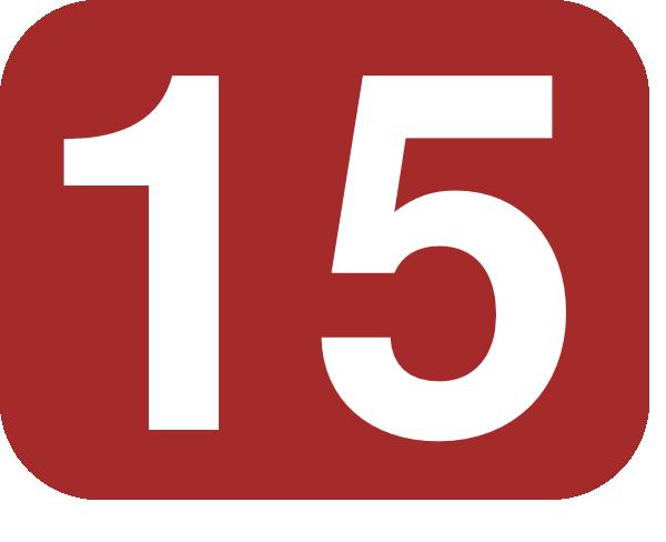 Number 15 Red Background Clip Art at Clker.com - vector