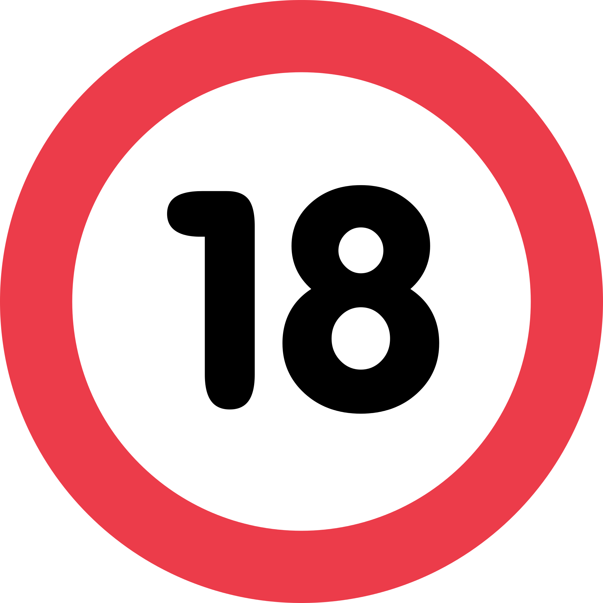 File:18 white, red rounded rectangle.svg - Wikimedia Commons  |18