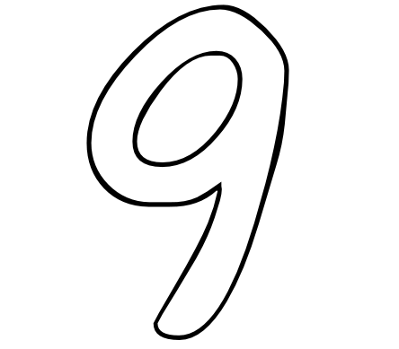 Impertinent image intended for printable number 9