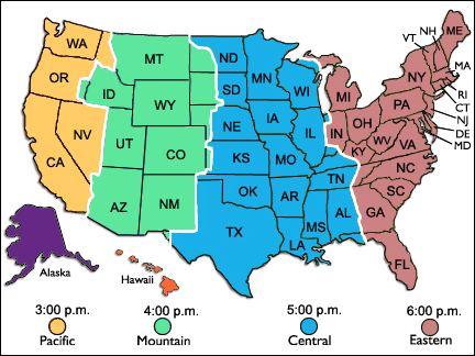 Time Zone Map Usa Printable With State Names My blog