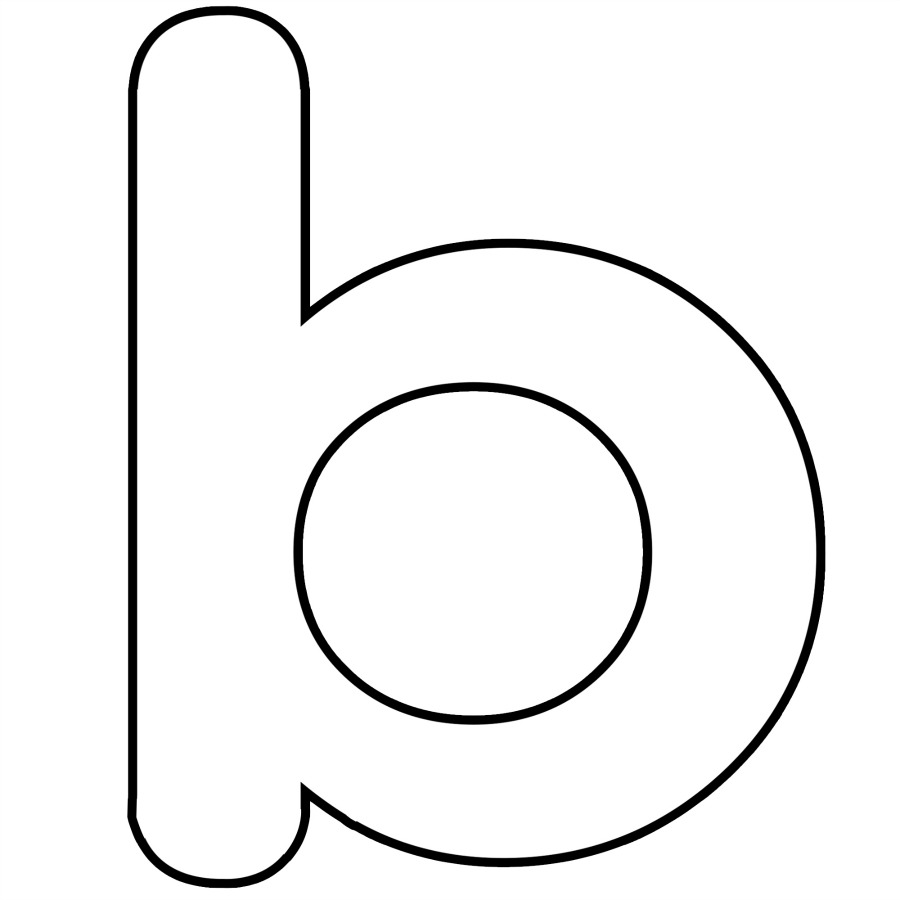 h and p template - letter b dr odd